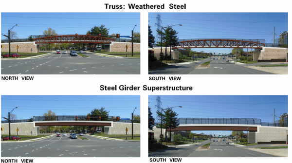 Renderings of foot bridge/Courtesy FCDOT