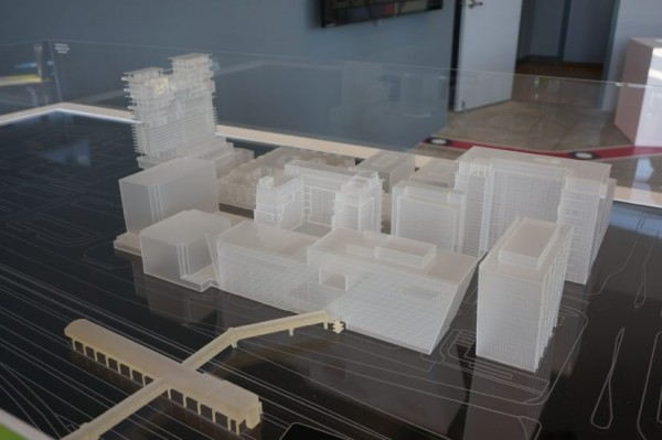 Model of Reston Station when it is fully built