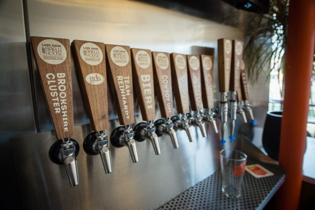 Sponsored taps at Lake Anne Brew House/Credit: Jennifer Heffner Photography