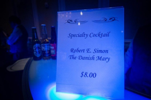 Simon's favorite drink at Simon tribute/Credit: RCC