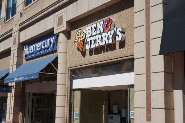 Ben & Jerry's sign at Reston Town Center
