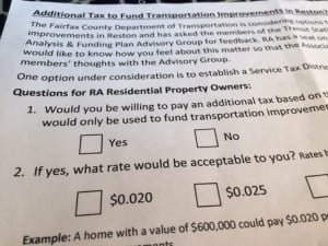 Transportation tax district questions