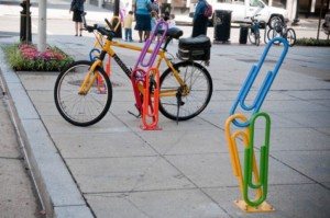Bike rack on L St. NW in DC/Credit: Golden Triangle