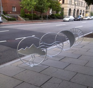 Bike rack on M St. NW in DC/Credit: Golden Triangle