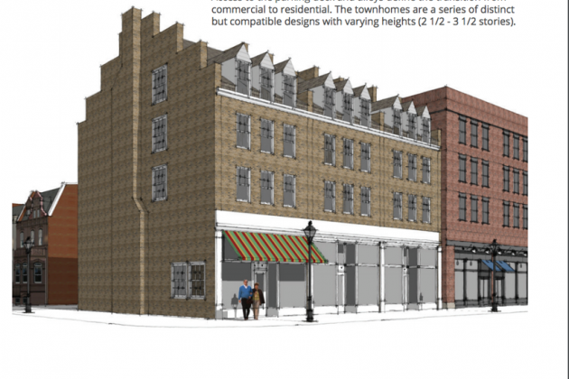 Rendering of hotel in downtown Herndon/Stout & Teague