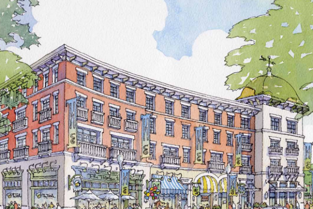 Rendering of Station Street Retail in Herndon/Comstock