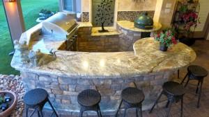 Materials in Outdoor kitchen/Anna Gibson