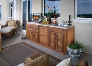 Outdoor kitchen cabinets/Anna Gibson