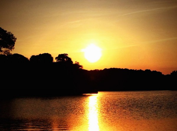 Sunset on Lake Thoreau/Credit: Sonya Payne