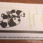 Metro paper fare card