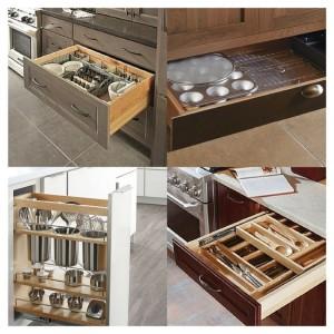 Inside cabinets/Photo Credit: Decora cabinets