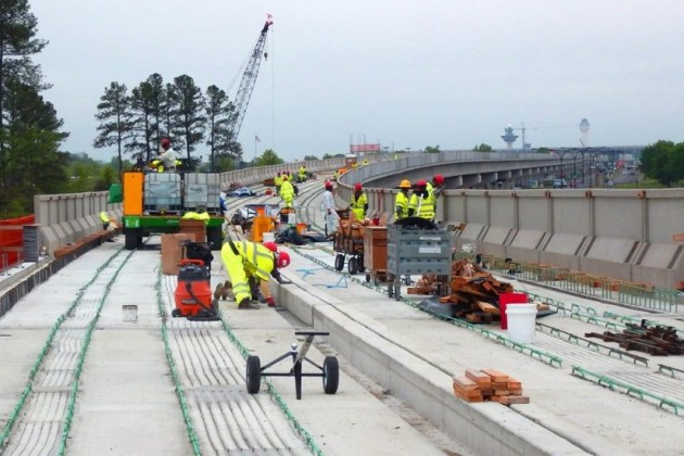 Silver Line Phase 2 construction/Dulles Corridor Metrorail Project
