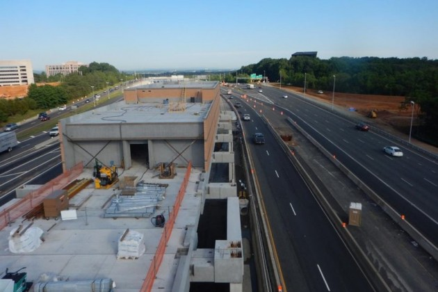Silver Line Phase 2 station under construction/Dulles Corridor Metrorail project