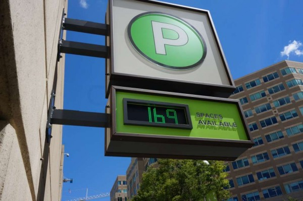 Sign outside Reston Town Center Green Garage