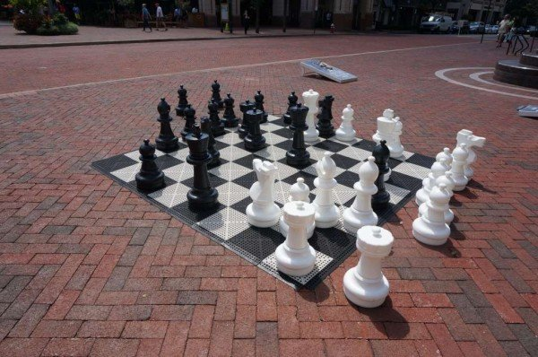 Chess set at Reston Town Center