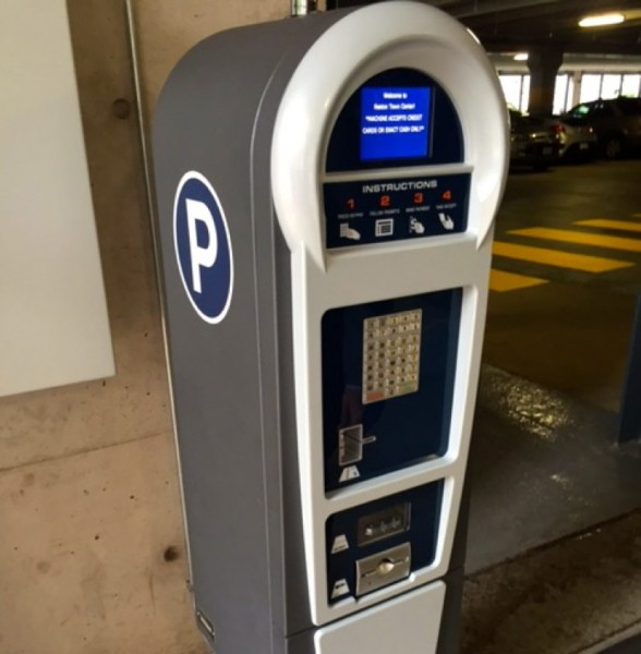 Pay station at Reston Town Center