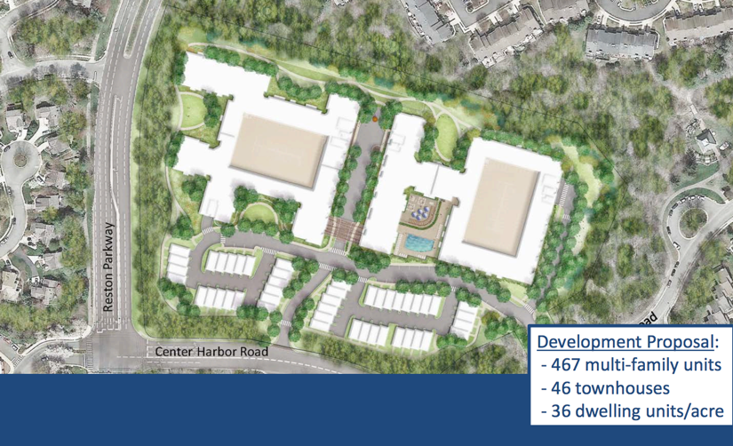 Revised Footprint For St. Johns Wood/Credit: Bozzuto. North Point Area  Residents Packed A Reston ...