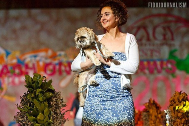 Anna with a furry friend/AKG Design