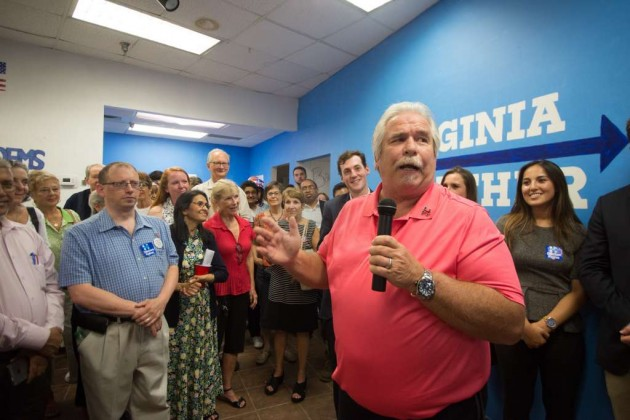 Hillary Clinton's brother Tony Rodham at Clinton-Kaine Reston campaign office opening/Credit: Jennifer Heffner Photography
