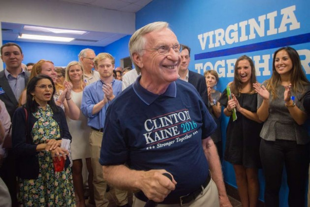 Del. Ken Plum at Clinton-Kaine Reston campaign office opening/Credit: Jennifer Heffner Photography