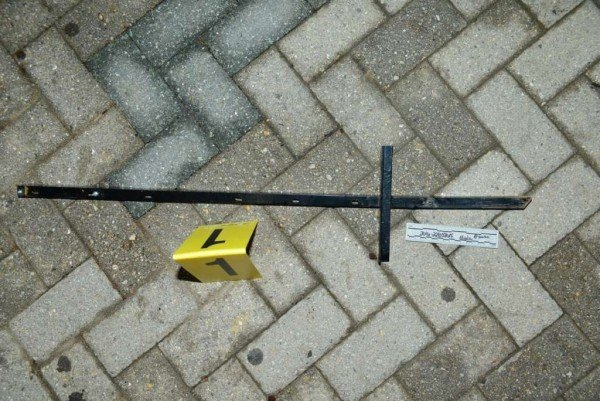 Signpost used as weapon in attack/Credit: FCPD