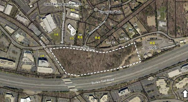 Location of proposed General Dynamics campus/Source: Fairfax County