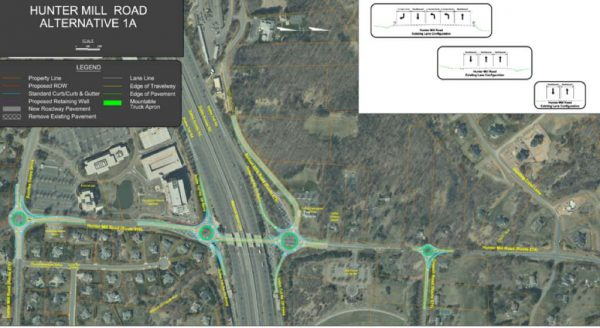 Proposed Hunter Mill Roundabouts/Credit: Fairfax County