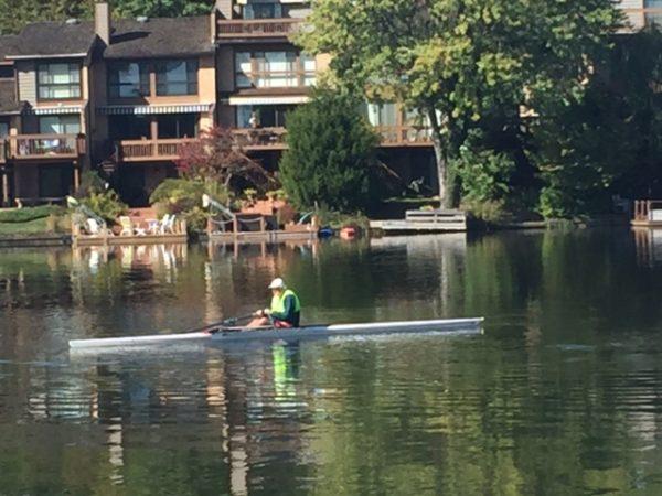 Morning scull on Lake Thoreau