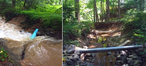 Stream erosion near Lake Audubon/Credit: RA
