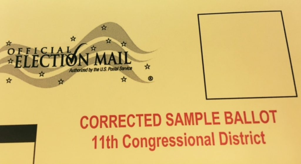 Corrected VA 11 sample ballot/Fairfax County Office of Elections