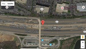 Location of future Herndon Metro station parking garage (Photo courtesy of Google Maps/Dulles Corridor Metrorail Project)