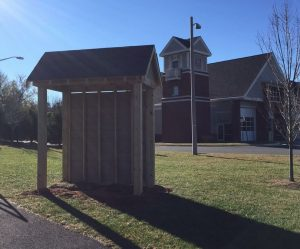 New Wolf Trap Bus Stop in Progress/Courtesy Fairfax Co. Fire & Rescue