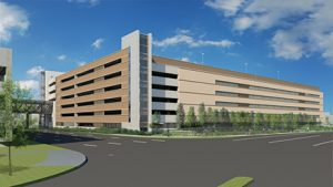 Rendering of future Herndon Metro Station parking garage (Image courtesy of Fairfax County)