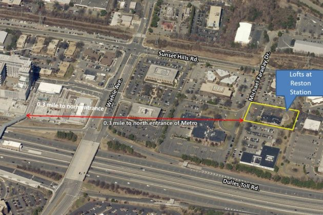The Lofts will set near Wiehle-Reston East. Credit: Fairfax County.