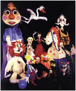 Bob Brown and puppets, photo courtesy of Fairfax County