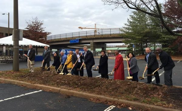 Herndon Metro station garage groundbreaking (Photo courtesy of Fairfax County Department of Transportation)