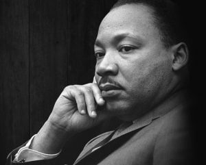 Portrait of Martin Luther King Jr. courtesy of Center for National and Community Service