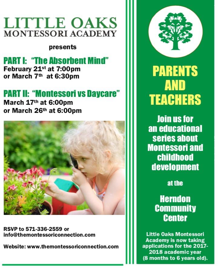 Reston Now » Childhood Development & Montessori