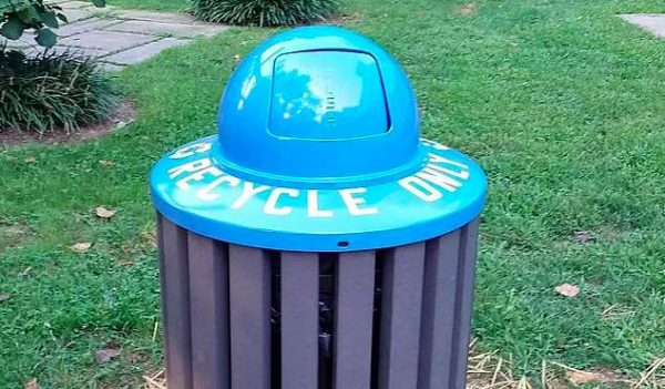 Reston recycling bin via Friends of Reston