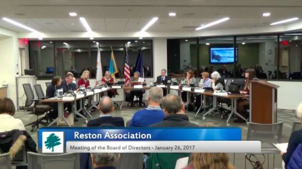 Reston Association Board Meeting - Jan. 26, 2017