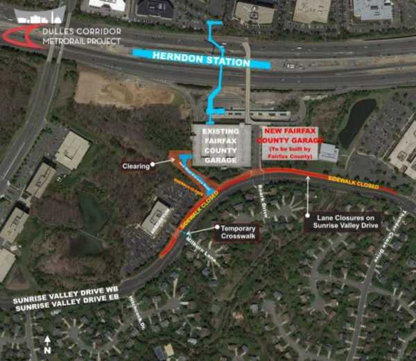 Sunset Valley Drive project, via Dulles Corridor Metrorail Project