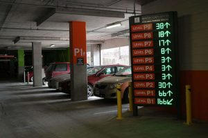 Orange parking garage, Reston Town Center