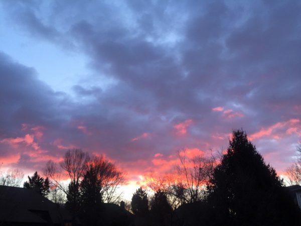 Sunrise over Reston -- Feb. 13, 2017 -- @JGS3584 (Twitter)