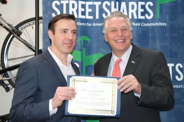 CEO Mark Rockefeller and Va. Gov. Terry McAuliffe - StreetShares