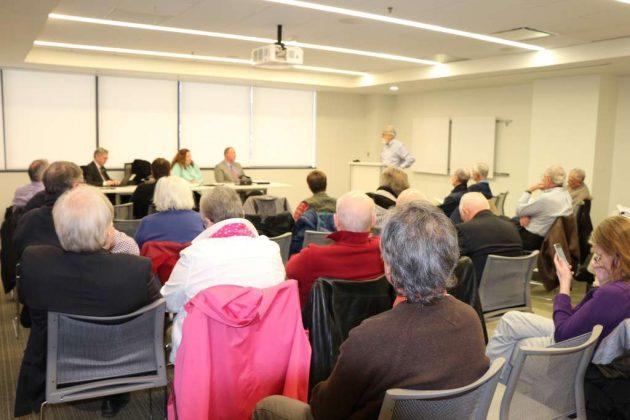 Reston Association members attended a community forum with a representative from StoneTurn Group on Thursday.