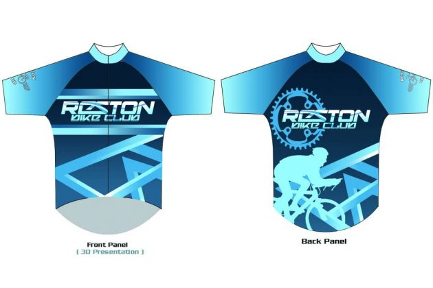 Clark Bautista's winning design in the 2017 Reston Bicycle Club jersey contest