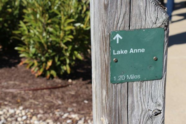 Morning Notes - Lake Anne trail sign