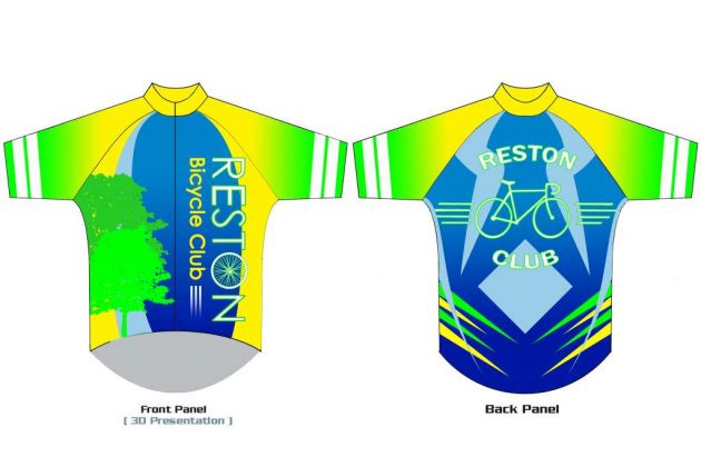Sierra Schuman's second-place design in the 2017 Reston Bicycle Club jersey contest