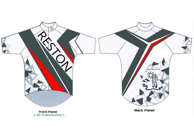 Seiji Urano's third-place design in the 2017 Reston Bicycle Club jersey contest