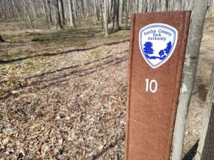 Fairfax County Park Authority trail marker
